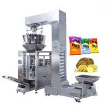 Automatic Potato Chips/Popcorn/Beans/Seeds/Rice Packaging Machine, Banana Slices Nitrogen Puffed Food Packing Machine